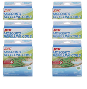 Pic (6) 10 Count Package C-10-12 Mosquito Repellent Coils