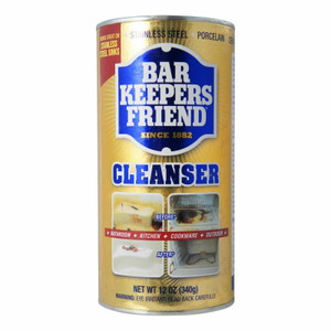 Bar Keepers Friend 11584 Cleanser and Polish 12 Ounce Non Abrasive Powder