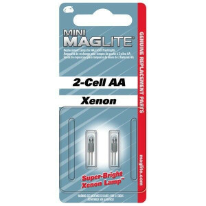 MagLite Mini Mag 2 Cell AA/AAA Mag Flashlight 2 Pack Replacement Bulbs - Lamps