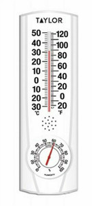 Taylor Precision Products 5537 9-Inch Indoor/Outdoor Thermometer