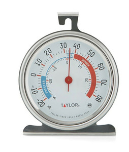 Taylor Classic Stainless Steel Freezer Refrigerator Thermometer 5924