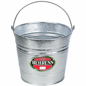 Lot of 6 Behrens 1210 Dover Buckets Hot Dipped Galvanized Steel Pails 10 QT