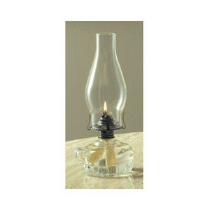 """Lamplight Farms 110 11 1/2"""" Chamber Clear Glass Oil Lamp"""