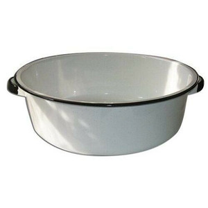 Columbian Home 6416-4 White Enamel Large 15 Quart Ceramic on Steel Dish Pan