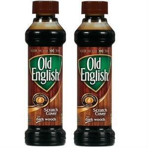 Old English 8 oz Dark Wood Furniture Polish and Scratch Cover 2pk