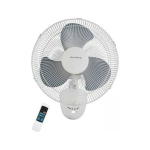 """Homebasix FW40-S1 16"""" Oscillating Wall Fan with Remote"""