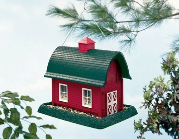 North States Industries  Red Barn Bird Seed Feeder Hanging or Mounted