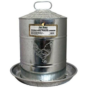Harris 4213 5 Gallon Double Wall Galvanized Steel Poultry Fountain