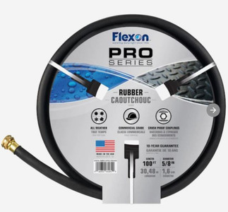"5/8""x100' Rubber Water Hose 8650-100"