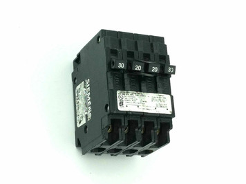 Siemens Q23020CT2 One-Outer 20Amp 2-Pole& One-Inner 30Amp 2-Pole Circuit Breaker