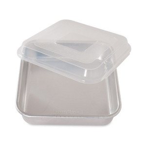 """Nordic Ware 45803 Naturals 9"""" Square Cake Pan with Lid"""
