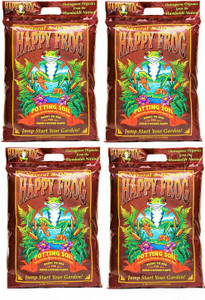 Fox Farm 590016 12qt  Happy Frog Potting Soil 4pk