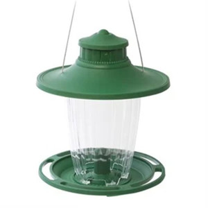 More Birds 108 Large Lantern Bird Feeder - Green.