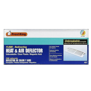 """Frost King HD7 Unbreakable Heat & Air Deflector Adjustable 10"""" to 14"""""""