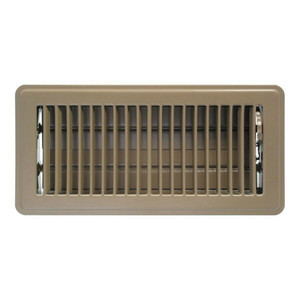 "Mintcraft FR01-4X10B Brown 4"" x 10"" Metal Floor Vent Air Register"