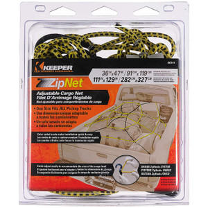 Keeper 06141 Adjustable Cargo Zip Net Fits All Pickups