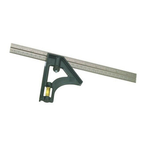 "Johnson Level Structo-Cast 12"" Combo Square w/ Level & Steel Blade"