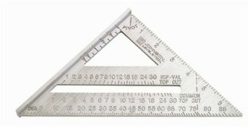 "Johnson Level RAS-1B Heavy Duty 7"" /18 cm Aluminum Rafter Angle Square"