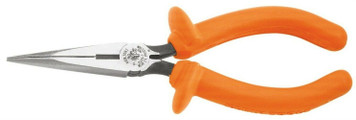 "Klein Insulated Standard Long Nose Pliers - 7"" Side Cutting"