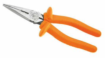 "Klein Tools Insulated 8"" Side-Cutting & Stripping Long Nose Pliers"