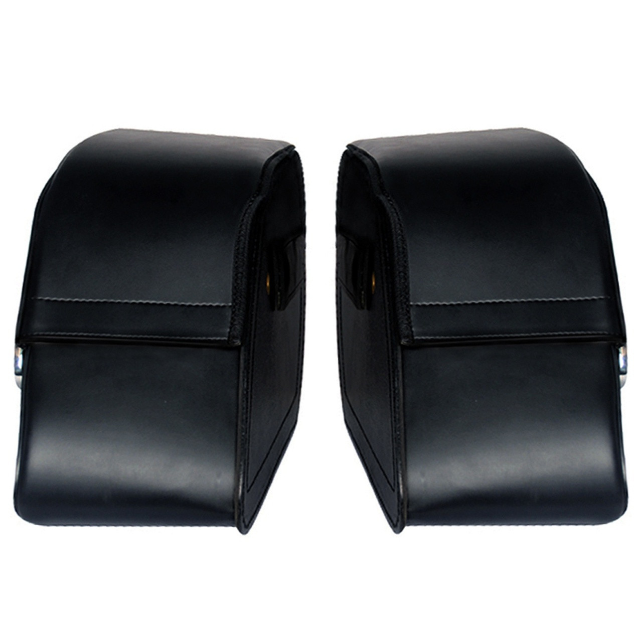 Charger Slanted Studded Saddlebags Left View