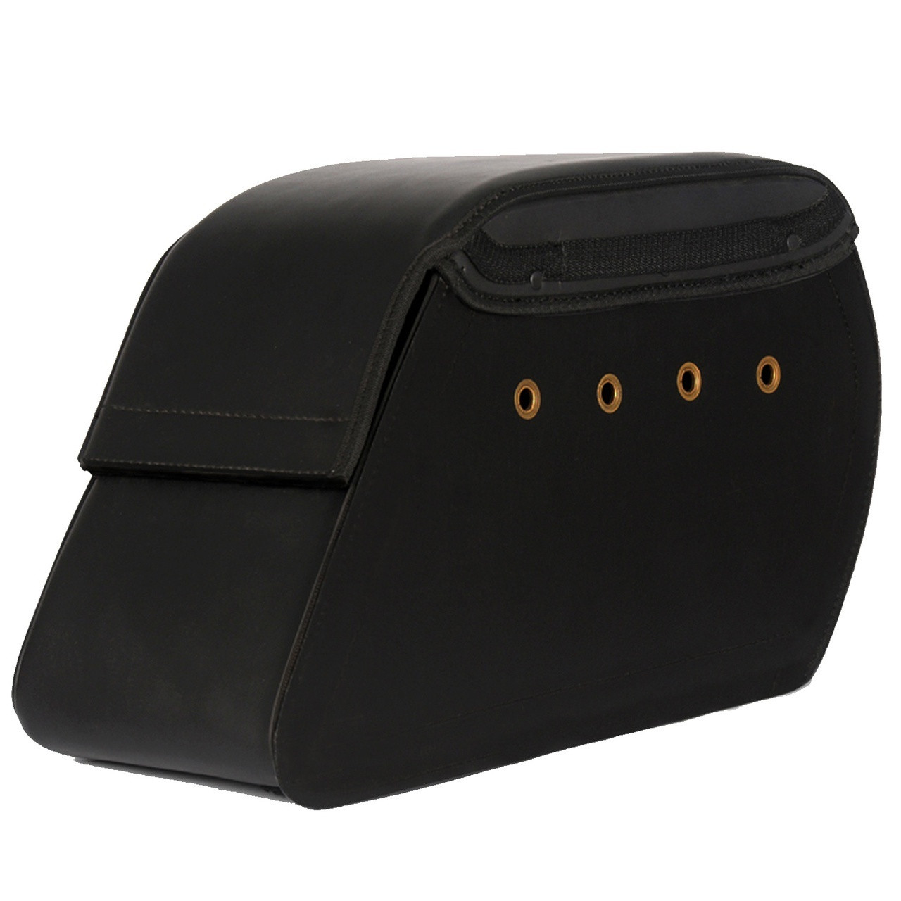 Charger Slanted Studded Saddlebags Front View