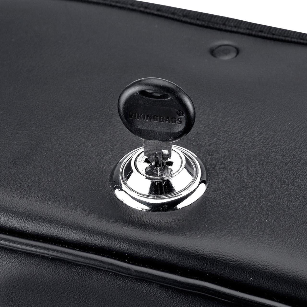 "Charger Slanted & Studed Saddlebags 15.5X10.5""X6"""" Key Lockable"