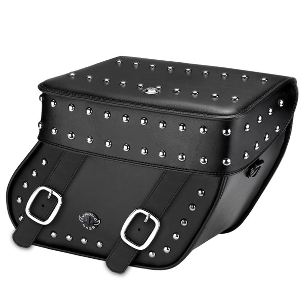 Concord Studded Leather Saddlebags Main Image
