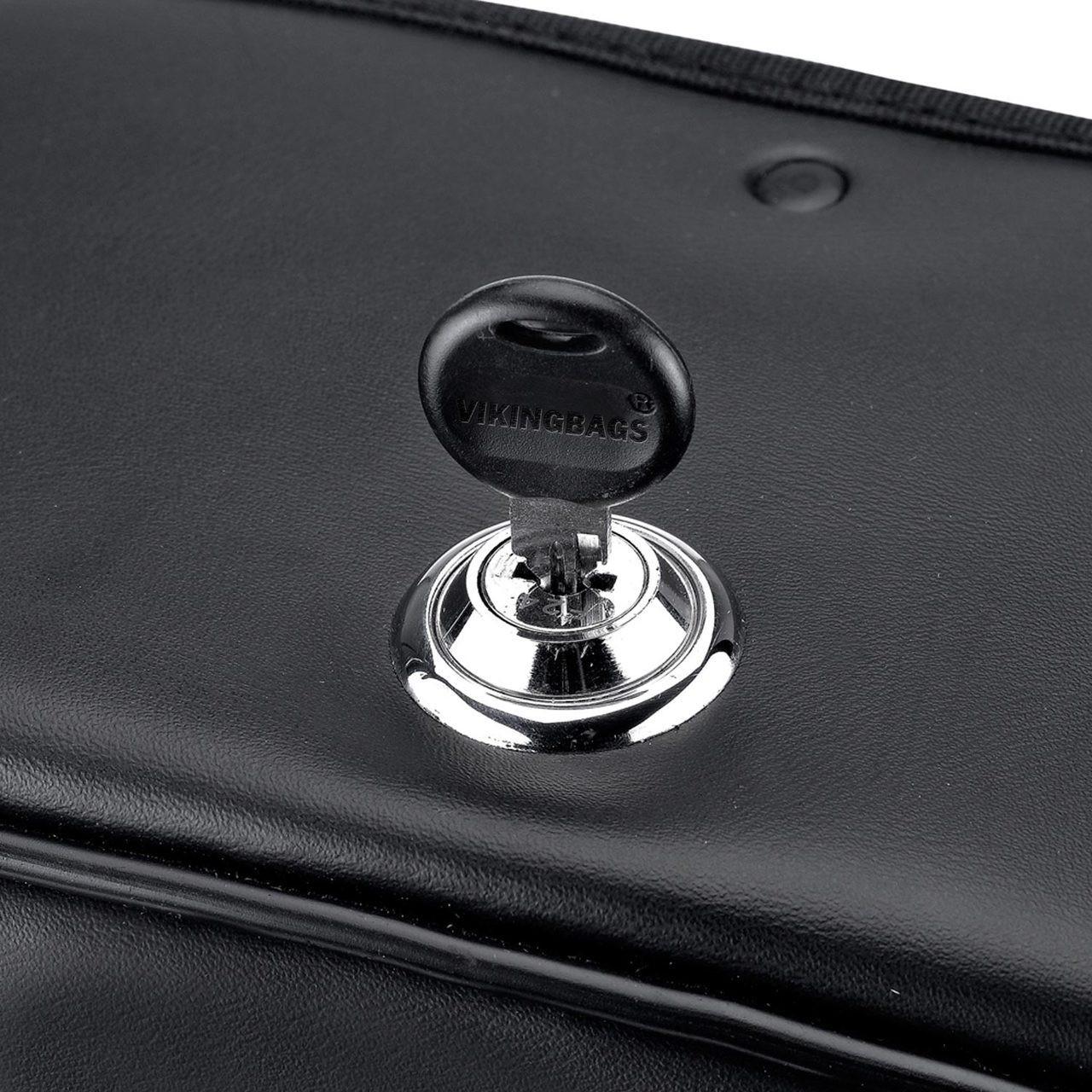 Concord Studded Leather Saddlebags Key Lockable