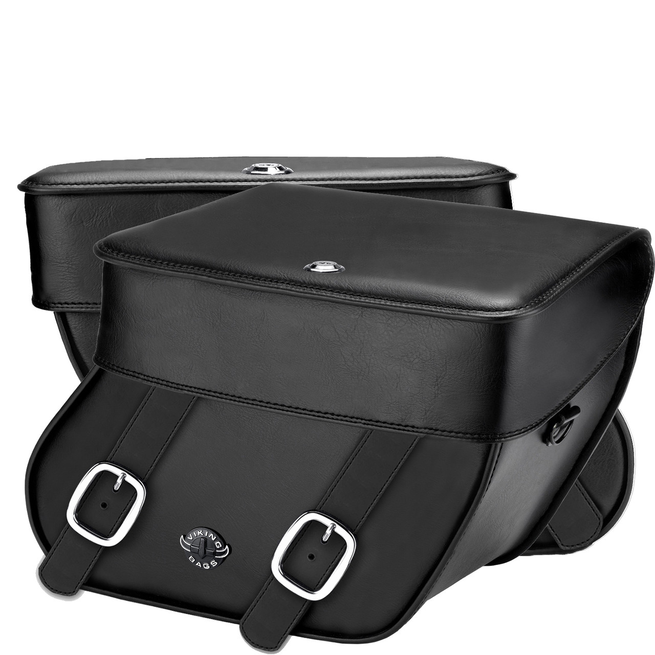 Concord Leather Saddlebags Both Bags View