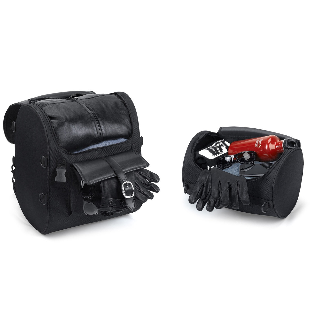 Economy Line Motorcycle Luggage Inside View with Accessories