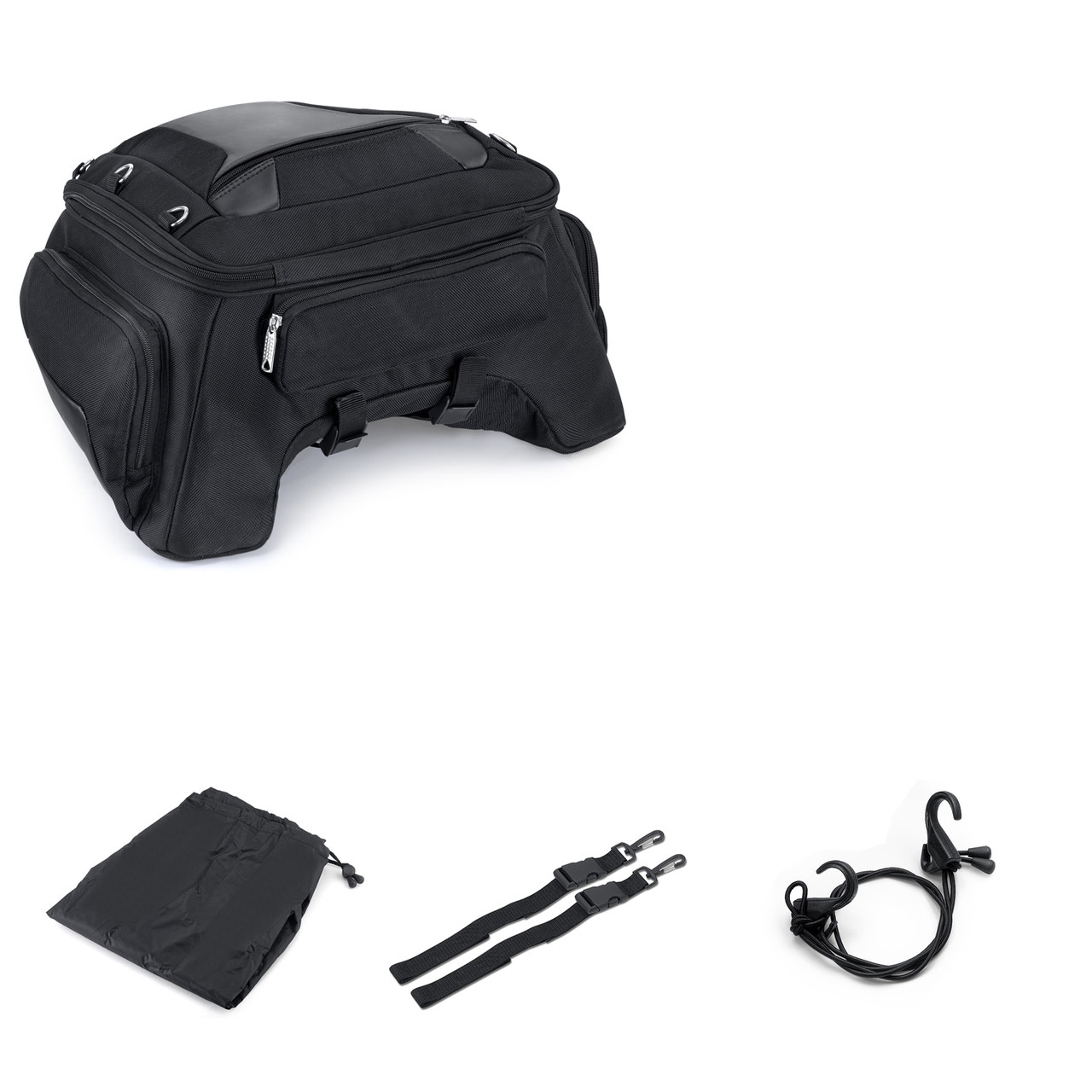 Motorcycle Tunnel Seat Luggage Bottom with Accessories