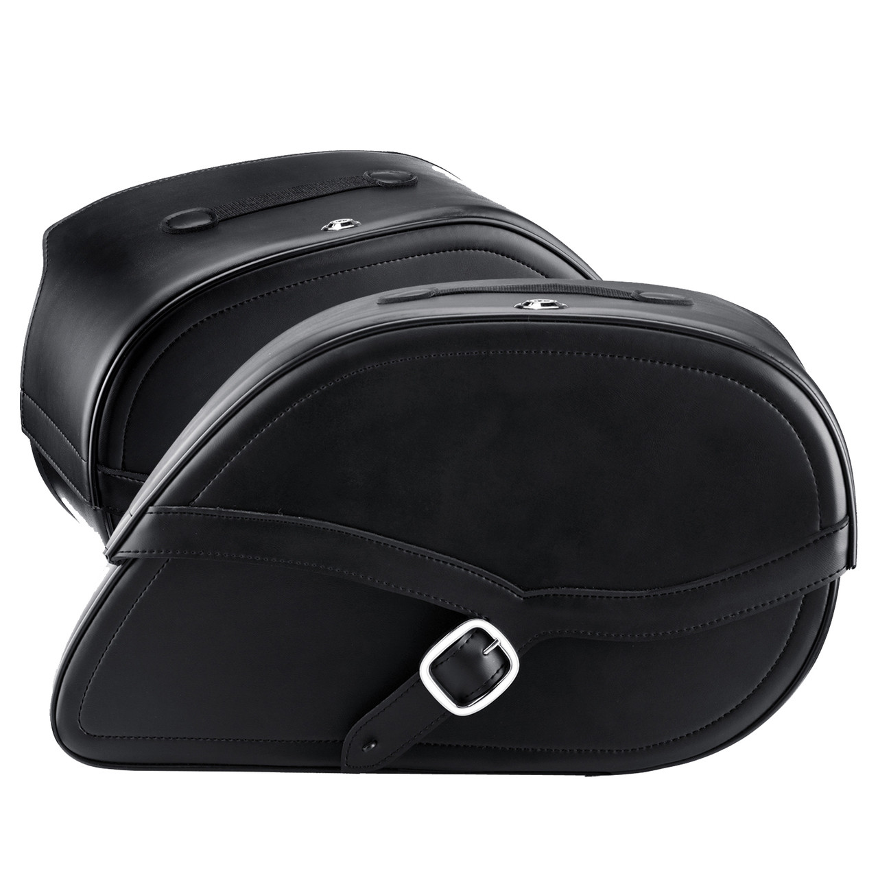 Viking Armor Shock Cutout Motorcycle Saddlebags Both Bags View