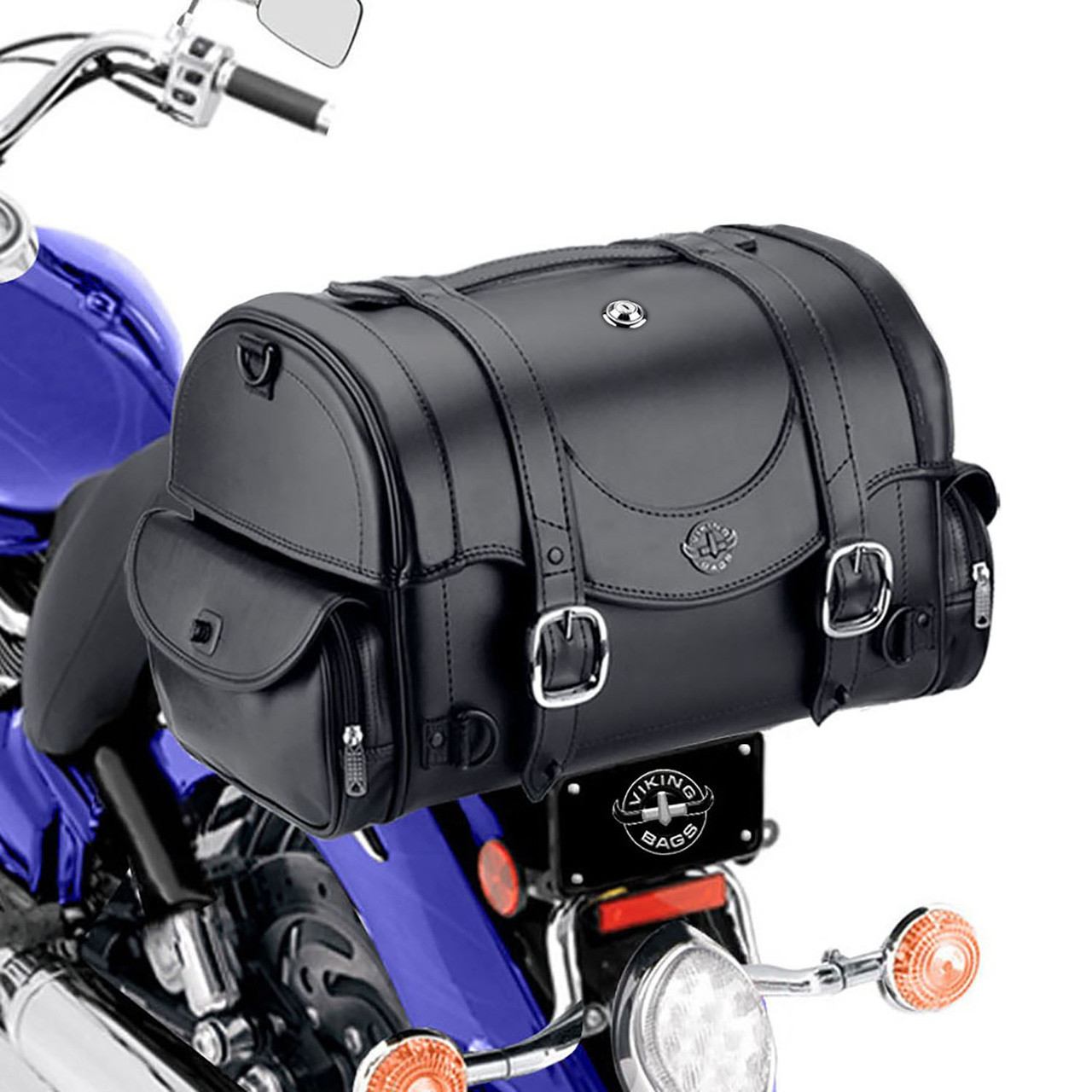 Viking Century 2050 CI Motorcycle Trunk  Side on Bike View