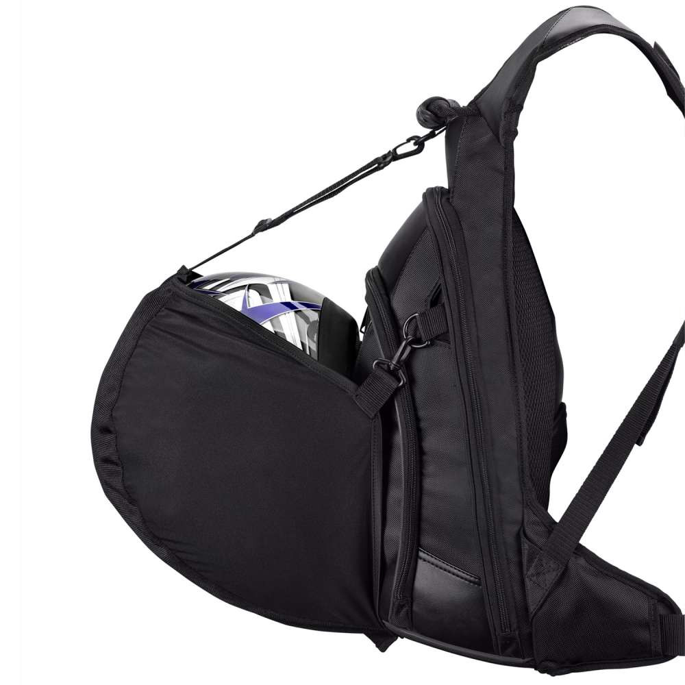 Viking Motorcycle Medium Backpack Inner View with carrying Items