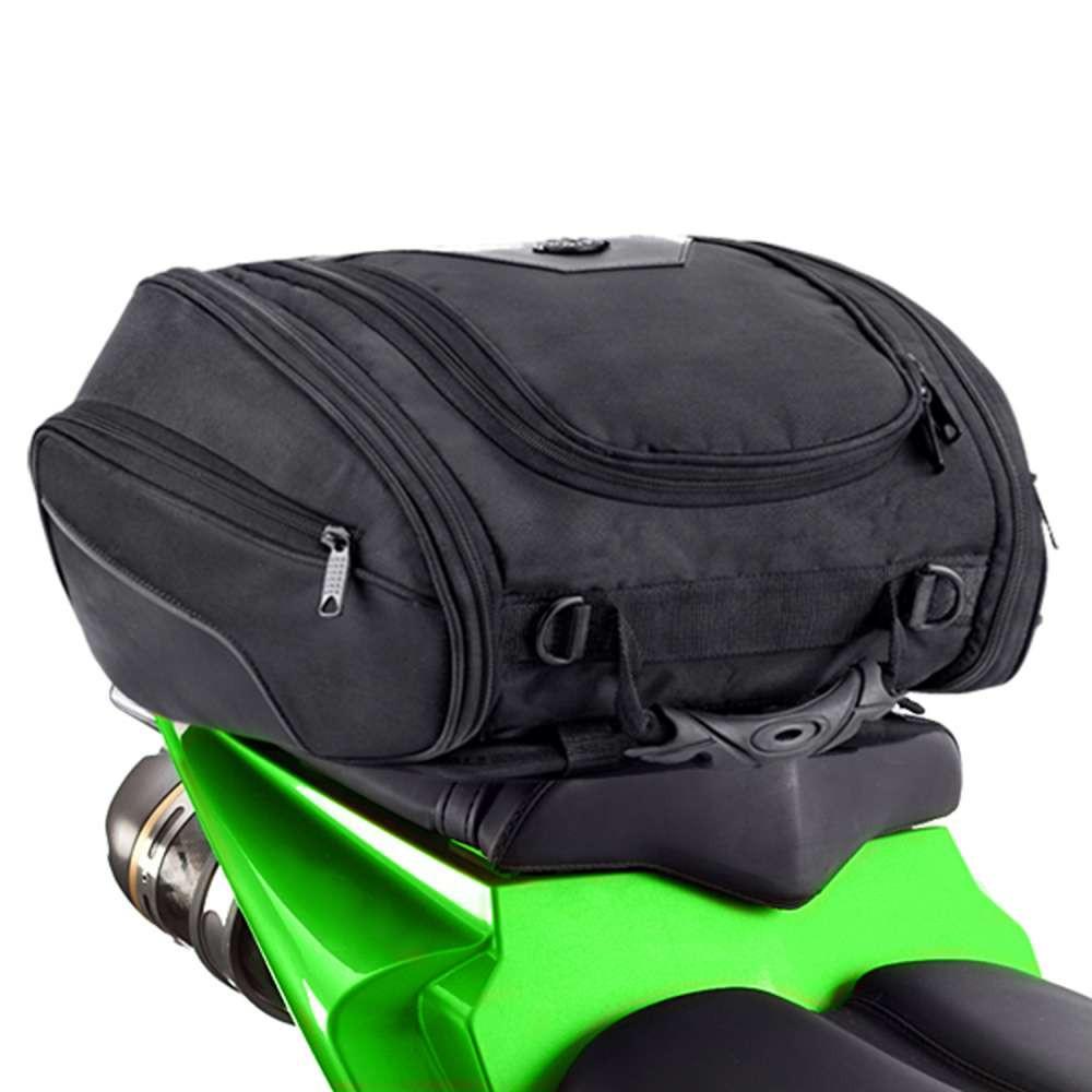 Viking Sport Motorcycle Tail Bag Back on Bike View