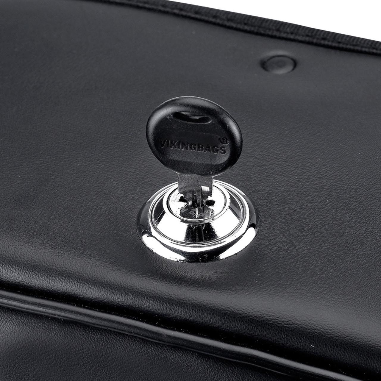 Vikingbags Shock Cutout Large Slanted Saddlebags Key Lockable