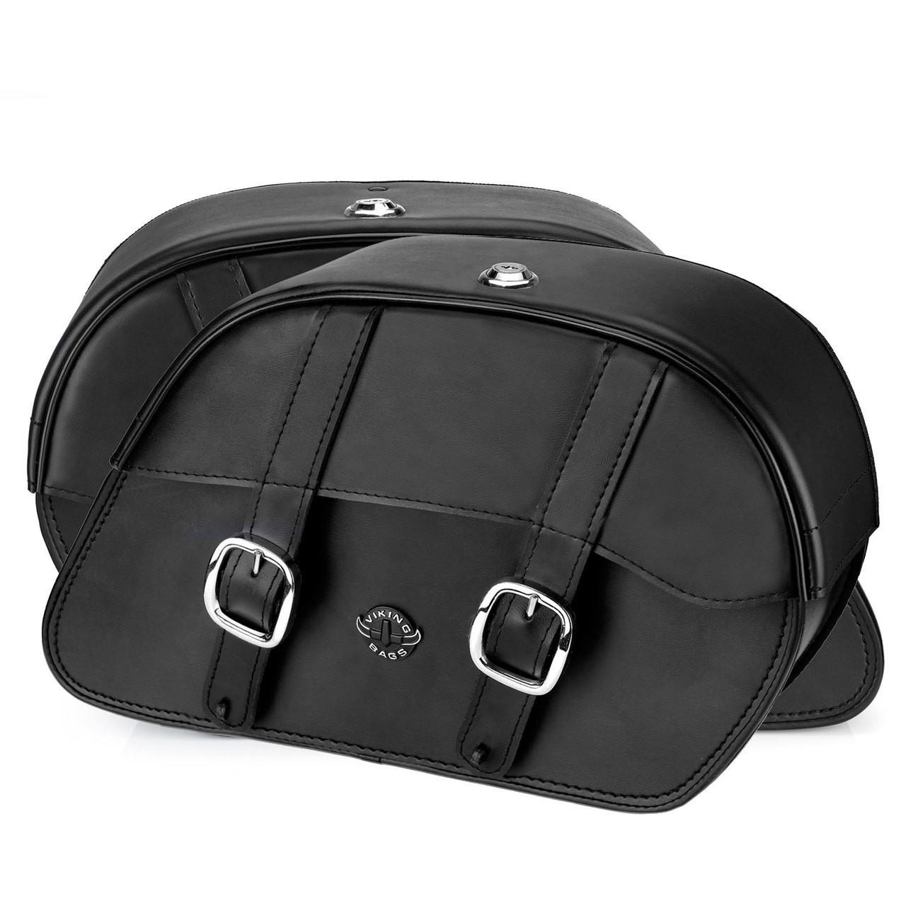 Vikingbags Shock Cutout Large Slanted Saddlebags Both Bags View
