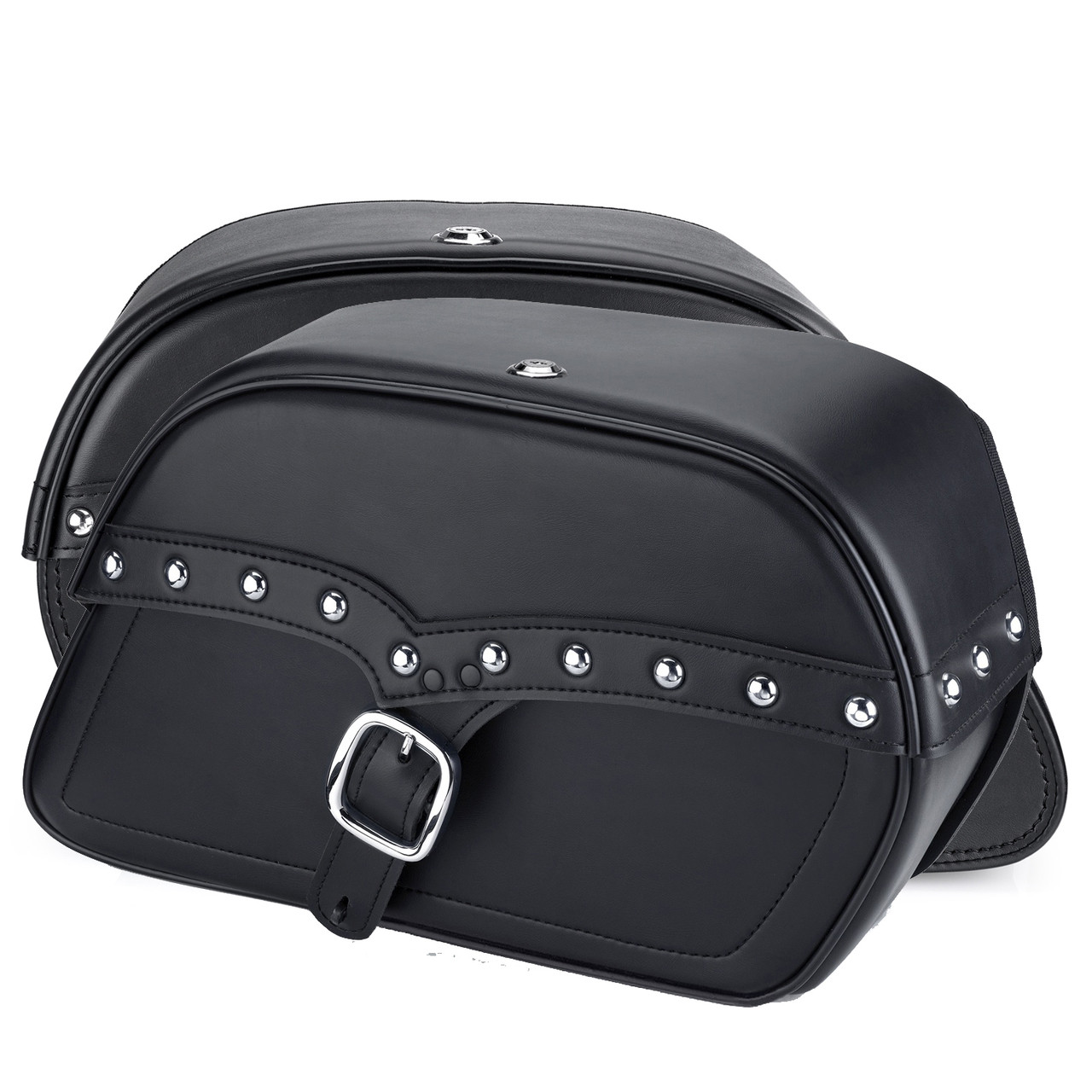 Vikingbags Shock Cutout SS Large Slanted Studded Bags Both Bags View