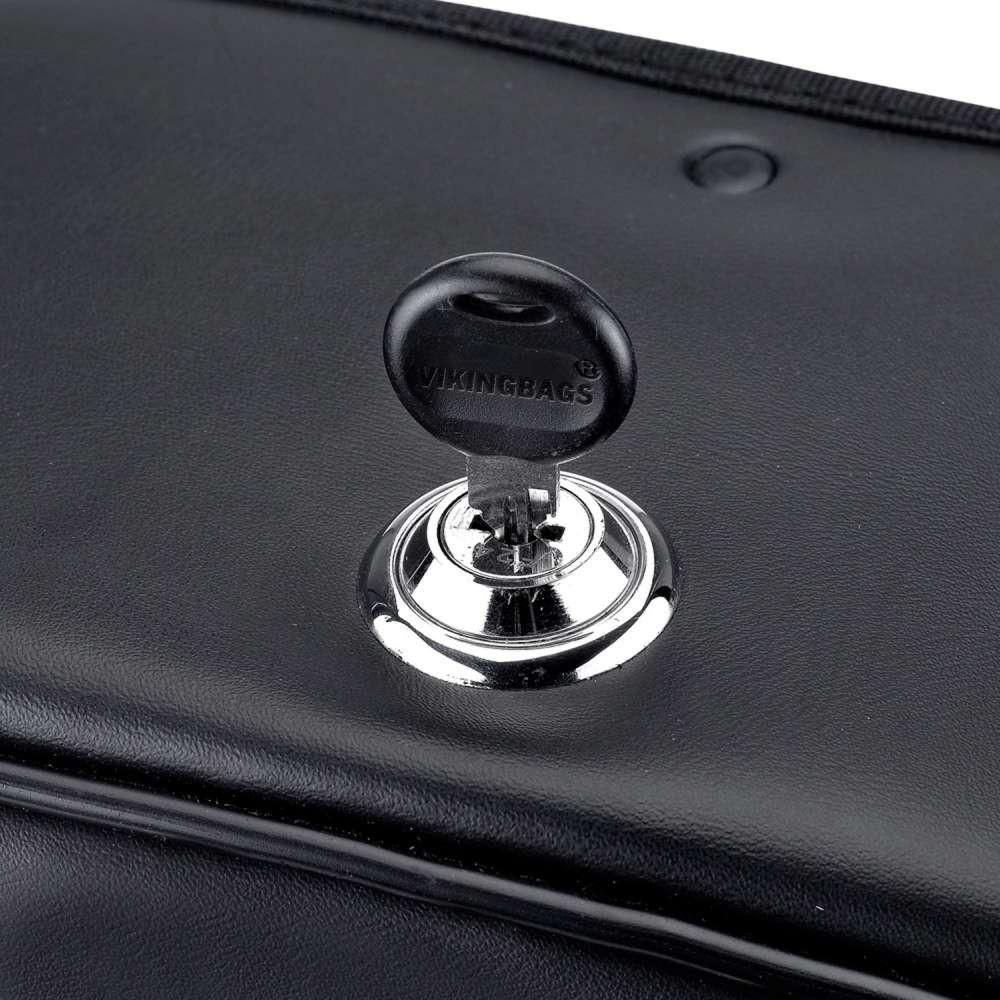 Warrior Series Medium Saddlebags Key Lock View