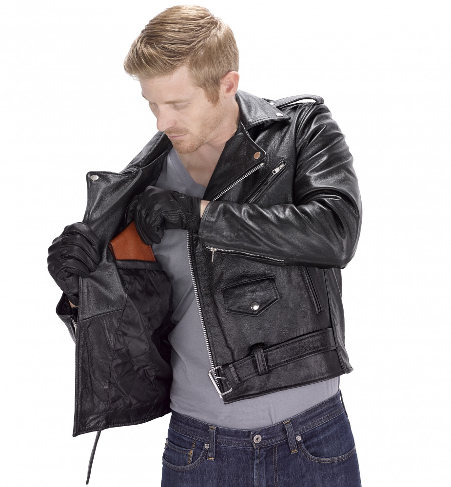VikingCycle Angel Fire Motorcycle Jacket for Men Inner Pocket View