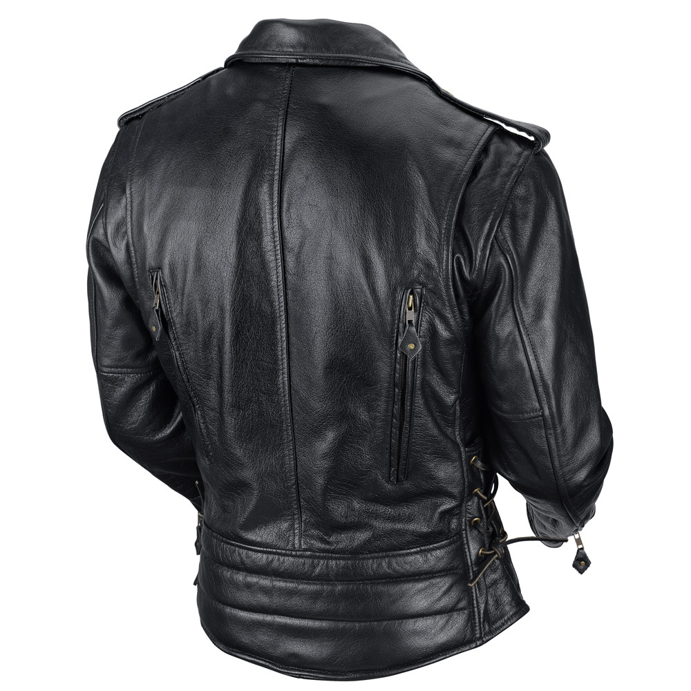 VikingCycle Dark Age Motorcycle Jacket for Men Back Side
