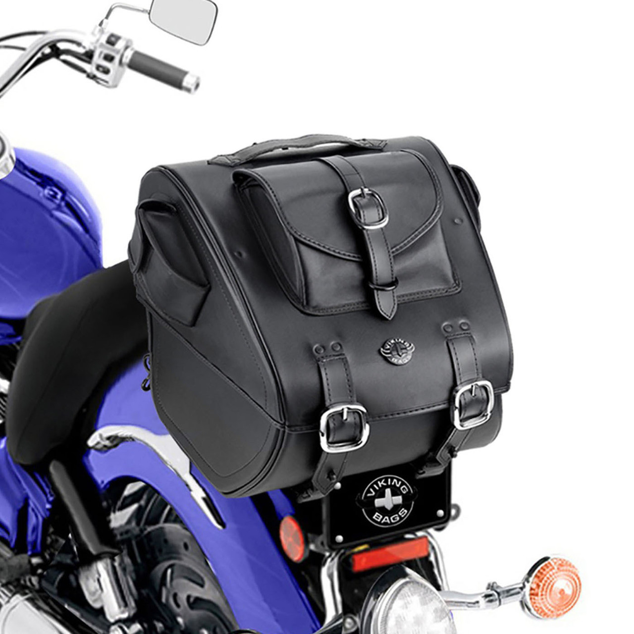 Viking Classic Trunk 3038 Cubic Inches Motorcycle Trunk Back View on Bike
