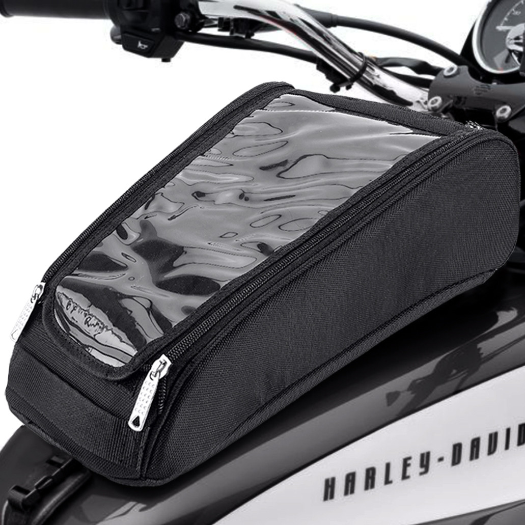 Viking Tank Bag for Harley Sportster In front of Bike View
