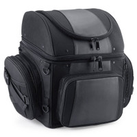 Large Back Rest Motorcycle Tail Bag (4080 cubic inches)