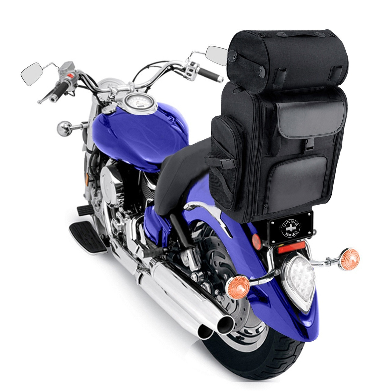 Viking Large 3305.25 Cubic Inches Motorcycle Tail Bag