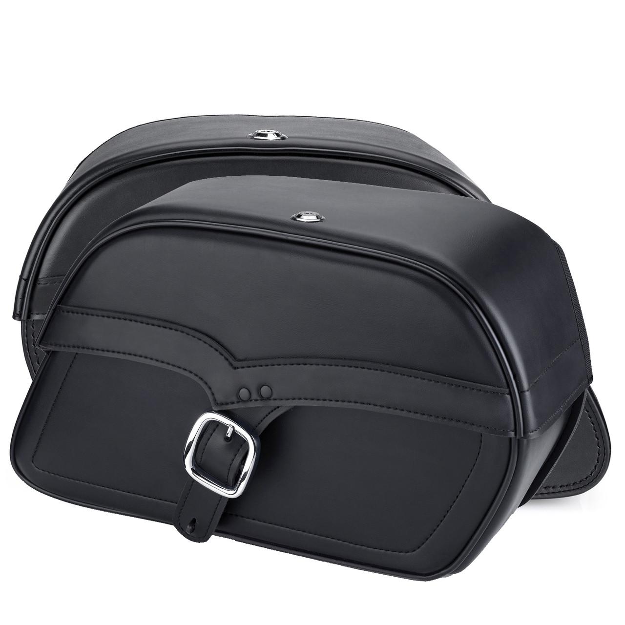 Vikingbags Shock Cutout Single Strap Large Slanted Saddlebags Both bags View