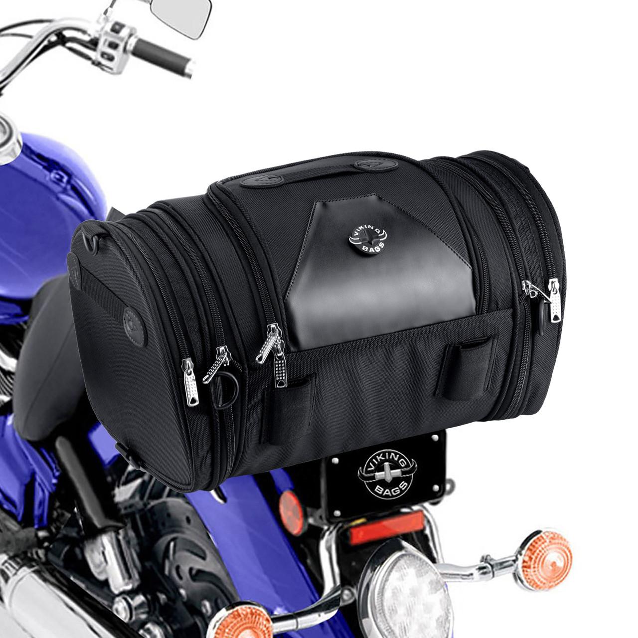 Viking Bags Axwell Motorcycle Sissy Bar Bag On Bike View