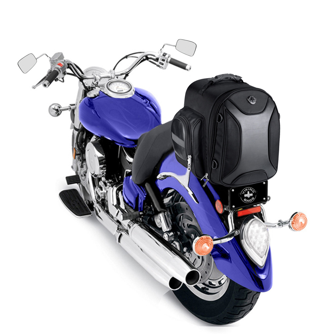 VikingBags Dagr Motorcycle Sissy Bar Bag on Bike View