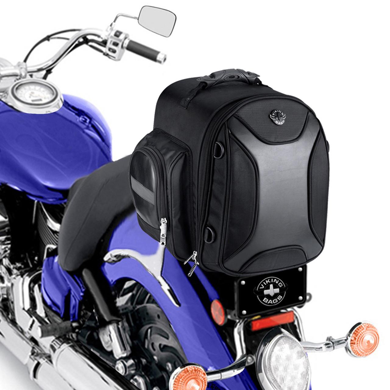 VikingBags Dagr Motorcycle Sissy Bar Bag  Back on Bike View
